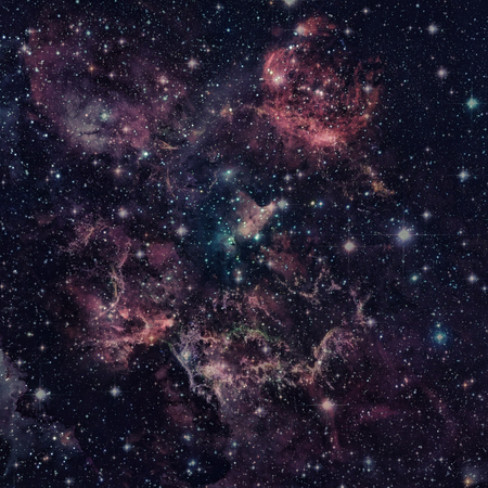 lies: The Cats Paw Nebula or NGC 6334 lies in the constellation of Scorpius. Elements of this image furnished by NASA.