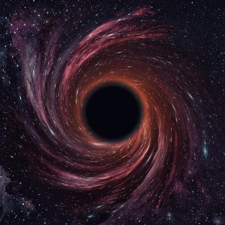 buco nero nello spazio.