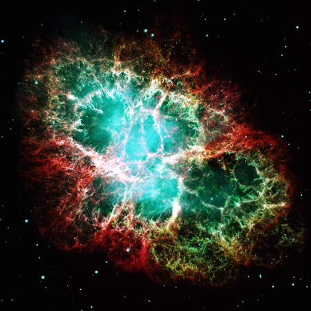Crab Nebula is a remnant of a stars supernova explosion.