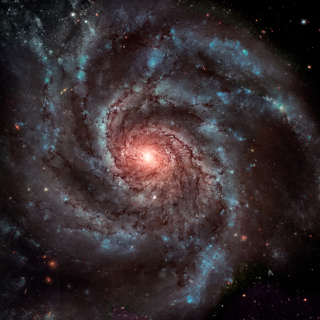 messier: The Pinwheel Galaxy, also known as Messier 101, M101 or NGC 5457, is a face-on spiral galaxy in the constellation Ursa Major. Elements of this image furnished by NASA.