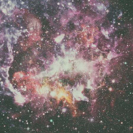 Nebula and stars in outer space.