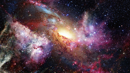 Open space filled with stars, nebulae and galaxies. Elements of this image furnished by NASA