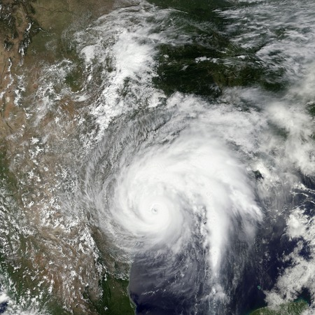 Tropical storm Harvey. Elements of this image are furnished by NASA 免版税图像