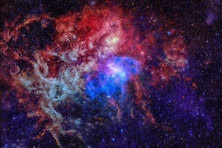 Beautiful nebula and Galaxy. Elements of this Image Furnished by NASA. Stock Photo - 85000462