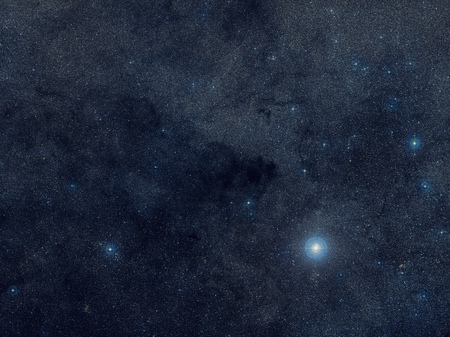 The Coalsack Dark Nebula is the most prominent dark nebula in the skies, easily visible to the naked eye. 版權商用圖片