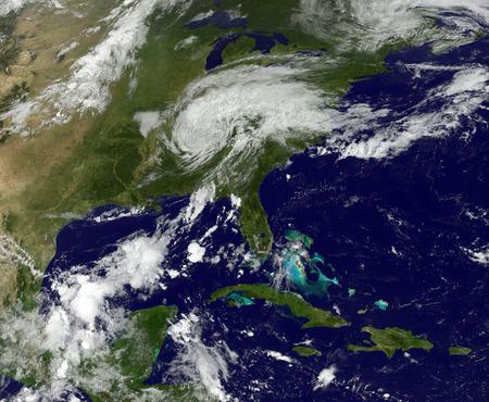 A Hurricane on Earth viewed from space. 版權商用圖片