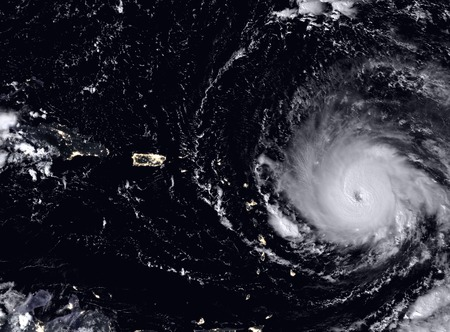 Hurricane Irma seen from the space.