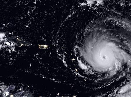 hurricane weather: Hurricane Irma seen from the space.