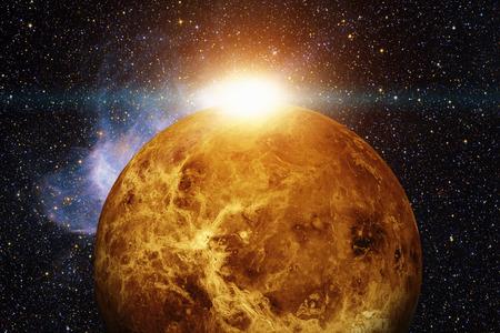 Système solaire - Vénus. Éléments de cette image fournie par la NASA.