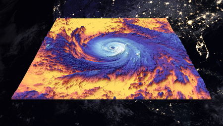 Hurricane Maria. Thermal image. Elements of this image furnished by NASA Banco de Imagens