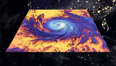 Orkaan maria Thermische afbeelding. Elementen van deze afbeelding ingericht door NASA