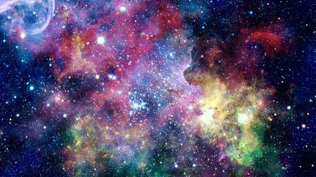Kolorowe mgławice i gwiazdy w przestrzeni kosmicznej. Elementy tego obrazu dostarczone. Zdjęcie Seryjne