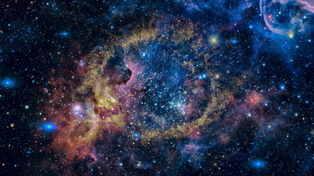 The Helix Nebula in deep space. Elements of this image furnished by NASA. Stock fotó - 89479522
