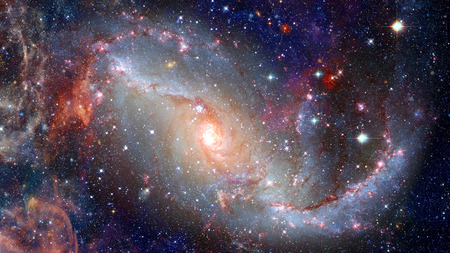 Spiral galaxy in space. Elements of this image furnished by .