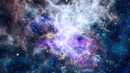 Deep outer space with stars and nebula.