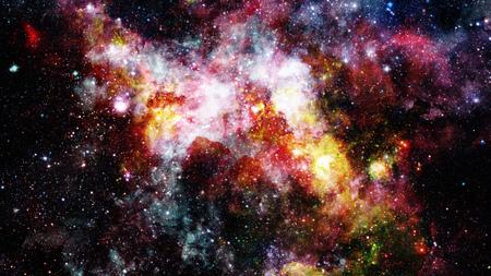 The explosion supernova. Bright Nebula. Stock Photo