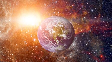 Planet Erde aus dem Weltall.