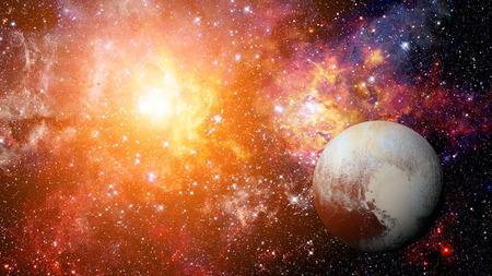 Planet Pluto - solar system planet. Stock Photo