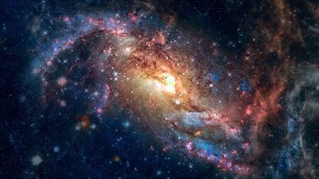 Starfield stardust and nebula space. Galaxy creative background.