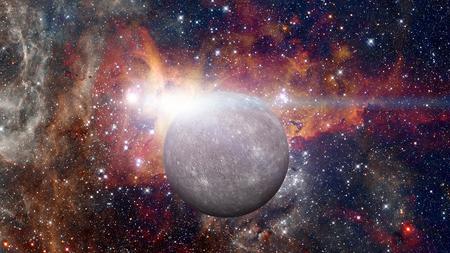 Planeet Mercurius. Stockfoto