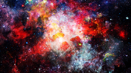 Nebula and galaxies in space. Elements of this image furnished