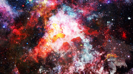 Futuristic abstract space background. Elements of this image furnished
