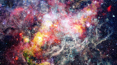 Cosmic clouds of mist on bright colorful backgrounds. Elements of this image furnished by NASA Stock Photo