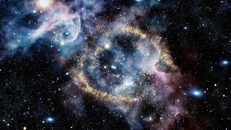 De Helixnevel is een grote planetaire nevel in het sterrenbeeld Waterman. Stockfoto