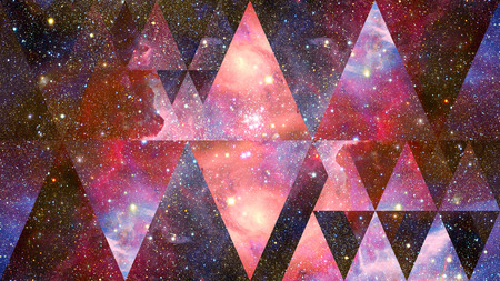 Nebula space and sacred geometry.