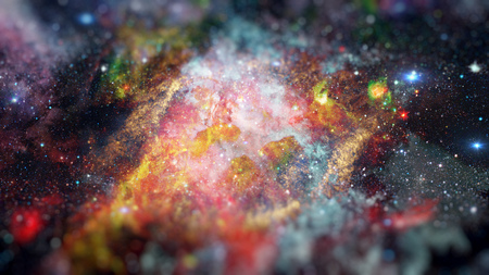 Cosmic art, science fiction wallpaper. Beauty of deep space. Science fiction art with small DOF.