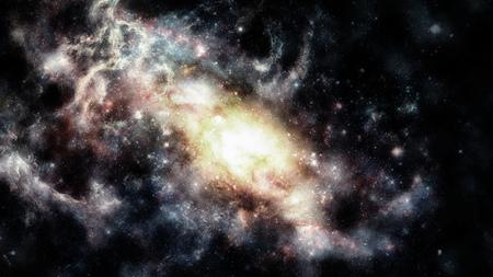 Galaxy and nebula.