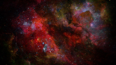 Nebula and stars in deep space, mysterious universe. 版權商用圖片