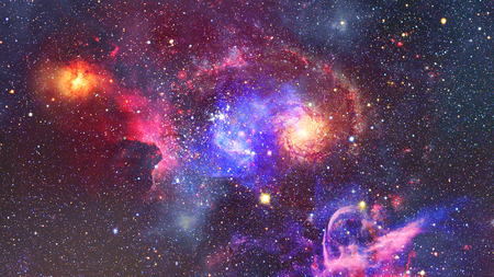 Galaxy and Nebula. Abstract space background.
