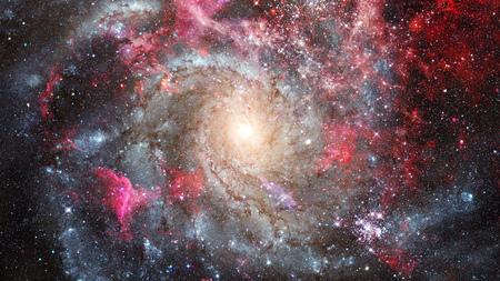 Night sky with stars and nebula. Stock Photo