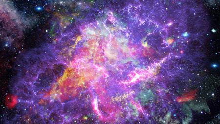 Cosmic art, science fiction wallpaper. Beauty of deep space.