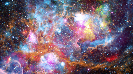 Colorful nebulas, galaxies and stars in deep space. Foto de archivo