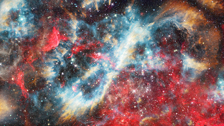 Starry outer space. Stock Photo