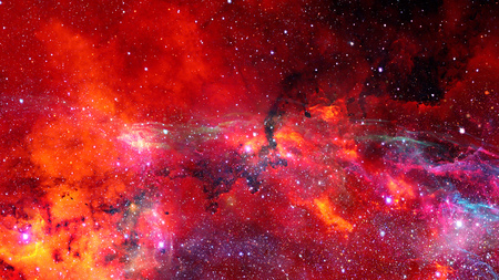Abstract scientific background - galaxy and nebula in space.