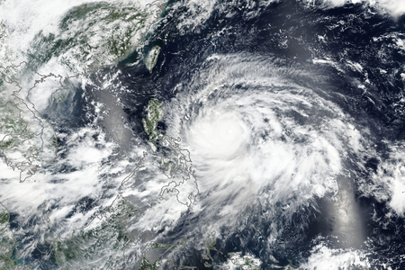 Super Typhoon Mangkhut (known locally as Ompong) Bearing Down on The Philippines.
