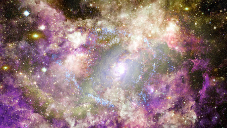 Dreamscape galaxy. Fantasy background. Elements of this image furnished by NASA.