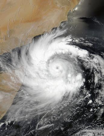 Tropical Cyclone Mekunu. Stockfoto