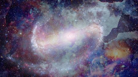 Colored nebula and open cluster of stars in the universe. Foto de archivo