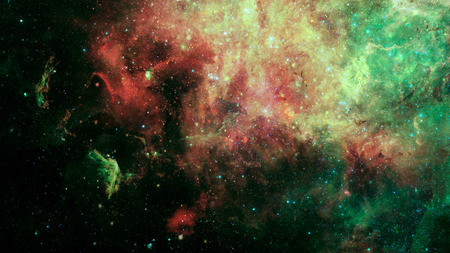 Abstract scientific  - galaxy and nebula in space.