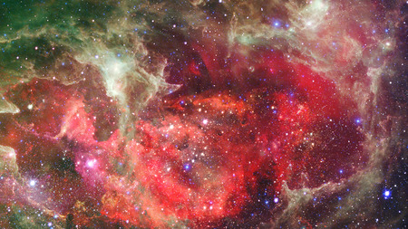 Nebula and galaxies in dark space. Fantasy . Banco de Imagens - 114514425
