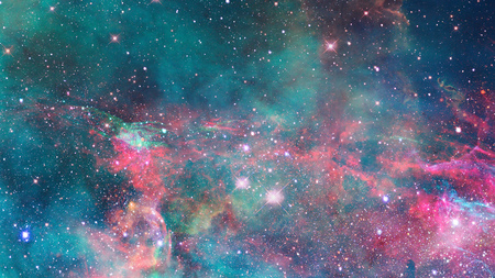 Abstract scientific  - galaxy and nebula in space Stock Photo