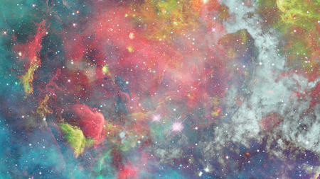 Nebula in space. Galaxy background