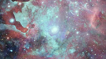 Beautiful nebula and bursting galaxy. Stock Photo