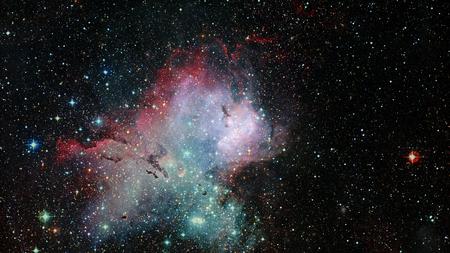 Espacio profundo art. Galaxias, nebulosas y estrellas en el universo.