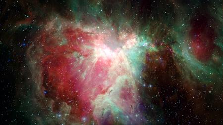 Miles de millones de galaxias en el universo. Fondo del espacio abstracto. Foto de archivo