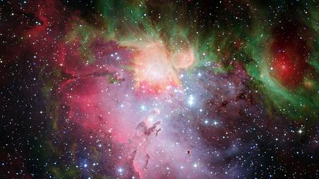 Impresionante y hermosa nebulosa en algún lugar del espacio exterior. Foto de archivo